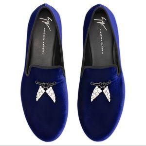 giuseppe zanotti NIB blue loafer w/ shark tassel